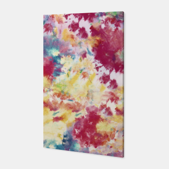 Red, Blue and Yellow Summer Tie Dye Batik Wax Tie Die Print Canvas imagen en miniatura