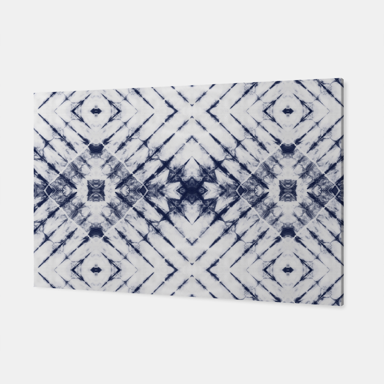 Imagen de Dark Blue and White Summer Tie Dye Batik Wax Tie Die Print Canvas - Live Heroes