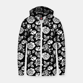 Thumbnail image of White Rose Zip up hoodie, Live Heroes
