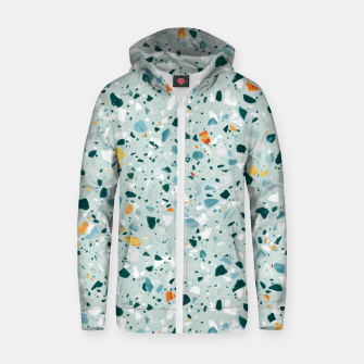 Thumbnail image of Mint Terrazzo Zip up hoodie, Live Heroes