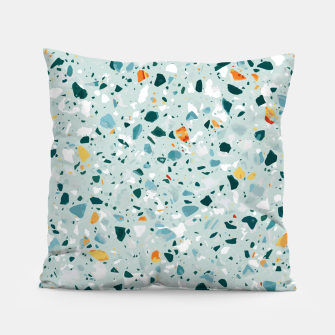 Thumbnail image of Mint Terrazzo Pillow, Live Heroes