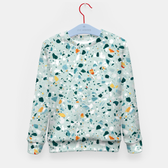 Thumbnail image of Mint Terrazzo Kid's sweater, Live Heroes