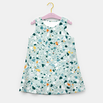 Thumbnail image of Mint Terrazzo Girl's summer dress, Live Heroes