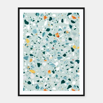 Thumbnail image of Mint Terrazzo Framed poster, Live Heroes