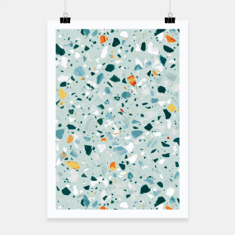 Thumbnail image of Mint Terrazzo Poster, Live Heroes