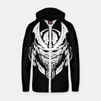 Thumbnail image of Cyber Samurai mask Zip up hoodie, Live Heroes