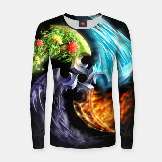 Thumbnail image of Elemental blades Women sweater, Live Heroes
