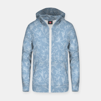 Thumbnail image of Slate Blue Frozen Magnolias  Zip up hoodie, Live Heroes