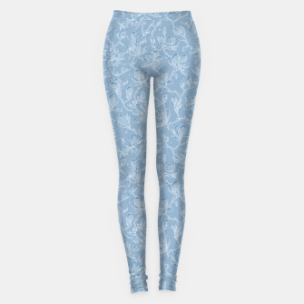 Thumbnail image of Slate Blue Frozen Magnolias  Leggings, Live Heroes