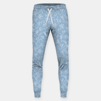 Thumbnail image of Slate Blue Frozen Magnolias  Sweatpants, Live Heroes