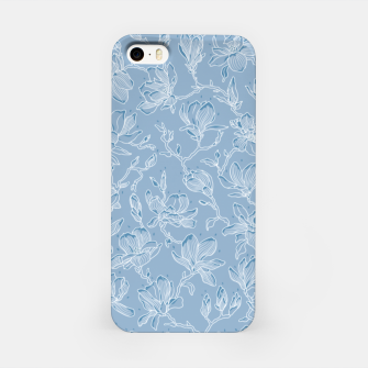 Thumbnail image of Slate Blue Frozen Magnolias  iPhone Case, Live Heroes