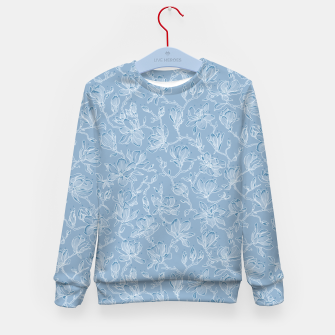 Thumbnail image of Slate Blue Frozen Magnolias  Kid's sweater, Live Heroes