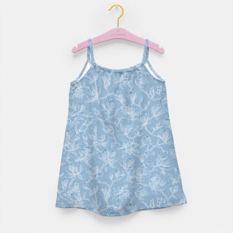 Thumbnail image of Slate Blue Frozen Magnolias  Girl's dress, Live Heroes