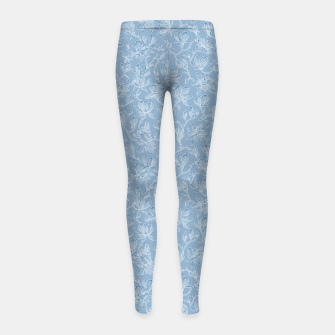 Thumbnail image of Slate Blue Frozen Magnolias  Girl's leggings, Live Heroes
