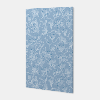 Thumbnail image of Slate Blue Frozen Magnolias  Canvas, Live Heroes