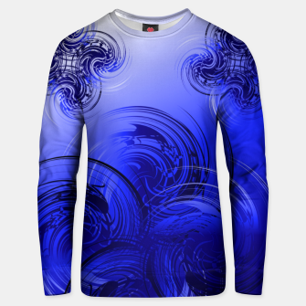 Imagen en miniatura de Abstract powerful chic blue fractal Unisex sweater, Live Heroes