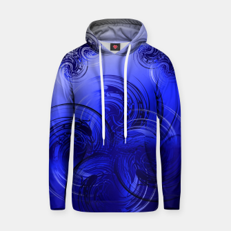 Imagen en miniatura de Abstract powerful chic blue fractal Hoodie, Live Heroes