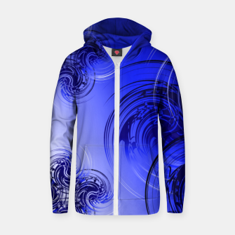 Imagen en miniatura de Abstract powerful chic blue fractal Zip up hoodie, Live Heroes