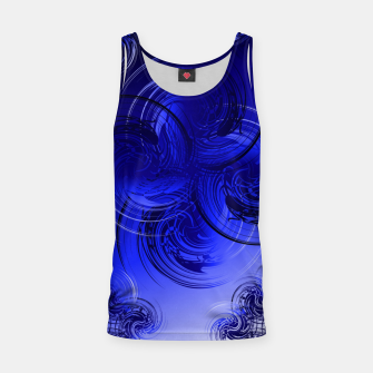 Imagen en miniatura de Abstract powerful chic blue fractal Tank Top, Live Heroes