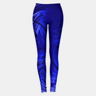 Imagen en miniatura de Abstract powerful chic blue fractal Leggings, Live Heroes