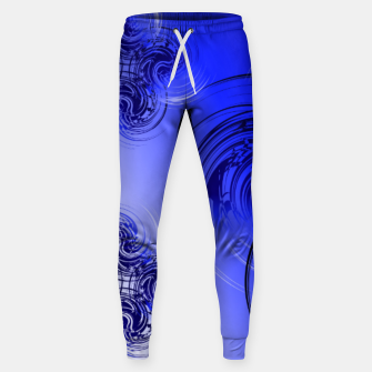Imagen en miniatura de Abstract powerful chic blue fractal Sweatpants, Live Heroes