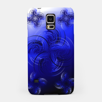 Imagen en miniatura de Abstract powerful chic blue fractal Samsung Case, Live Heroes