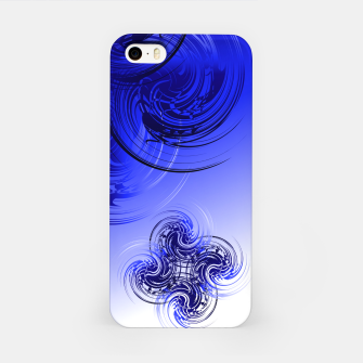 Imagen en miniatura de Abstract powerful chic blue fractal iPhone Case, Live Heroes