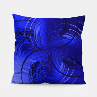 Imagen en miniatura de Abstract powerful chic blue fractal Pillow, Live Heroes