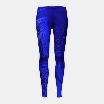Imagen en miniatura de Abstract powerful chic blue fractal Girl's leggings, Live Heroes