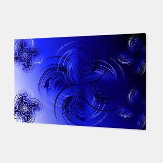 Imagen en miniatura de Abstract powerful chic blue fractal Canvas, Live Heroes