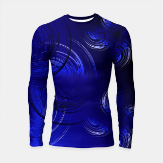Imagen en miniatura de Abstract powerful chic blue fractal Longsleeve rashguard , Live Heroes