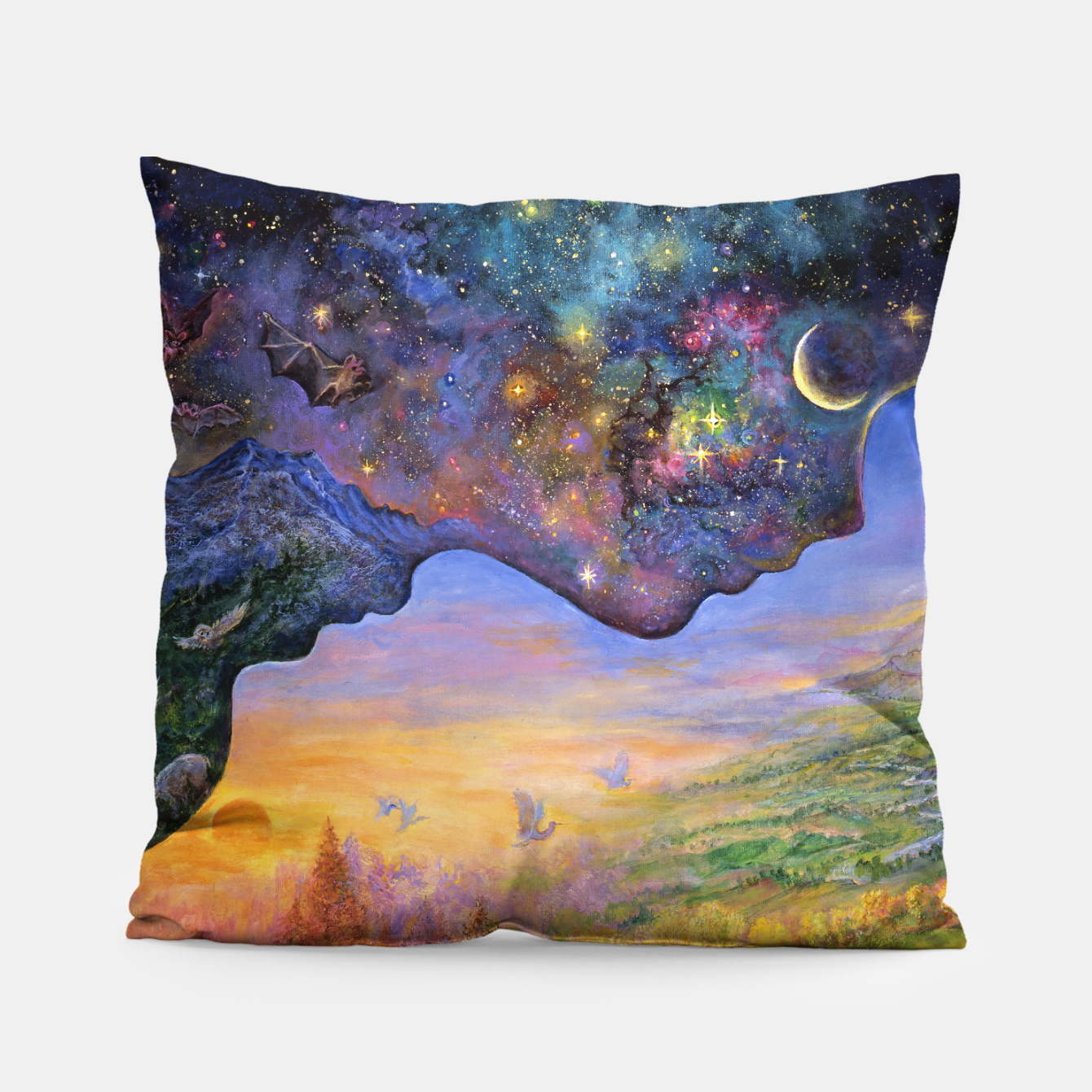 Image of Yin and Yang Pillow - Live Heroes