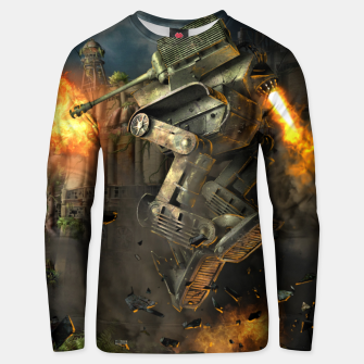 Thumbnail image of Combat robots fight Unisex sweater, Live Heroes
