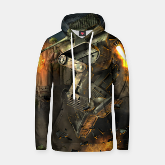 Thumbnail image of Combat robots fight Hoodie, Live Heroes