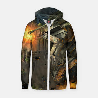 Thumbnail image of Combat robots fight Zip up hoodie, Live Heroes