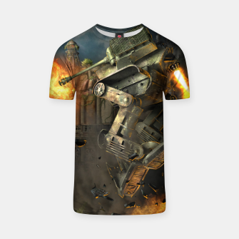 Thumbnail image of Combat robots fight T-shirt, Live Heroes