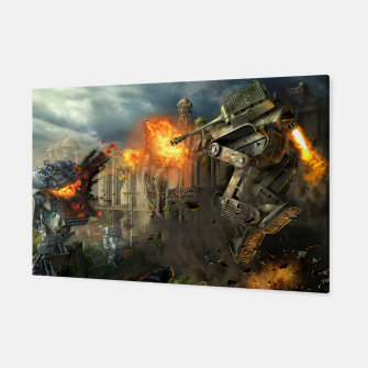 Thumbnail image of Combat robots fight Canvas, Live Heroes
