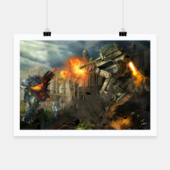 Thumbnail image of Combat robots fight Poster, Live Heroes