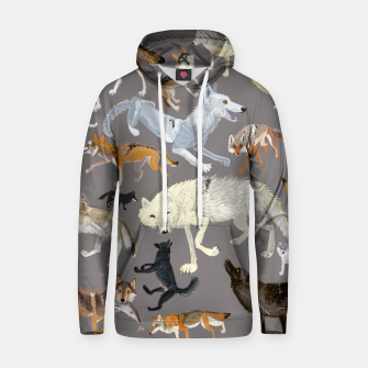 Imagen en miniatura de Wolves of the world grey pattern Sudadera con capucha, Live Heroes