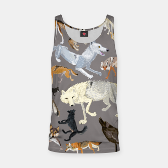 Imagen en miniatura de Wolves of the world grey pattern Camiseta de tirantes, Live Heroes