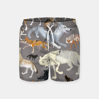 Imagen en miniatura de Wolves of the world grey pattern Pantalones de baño, Live Heroes