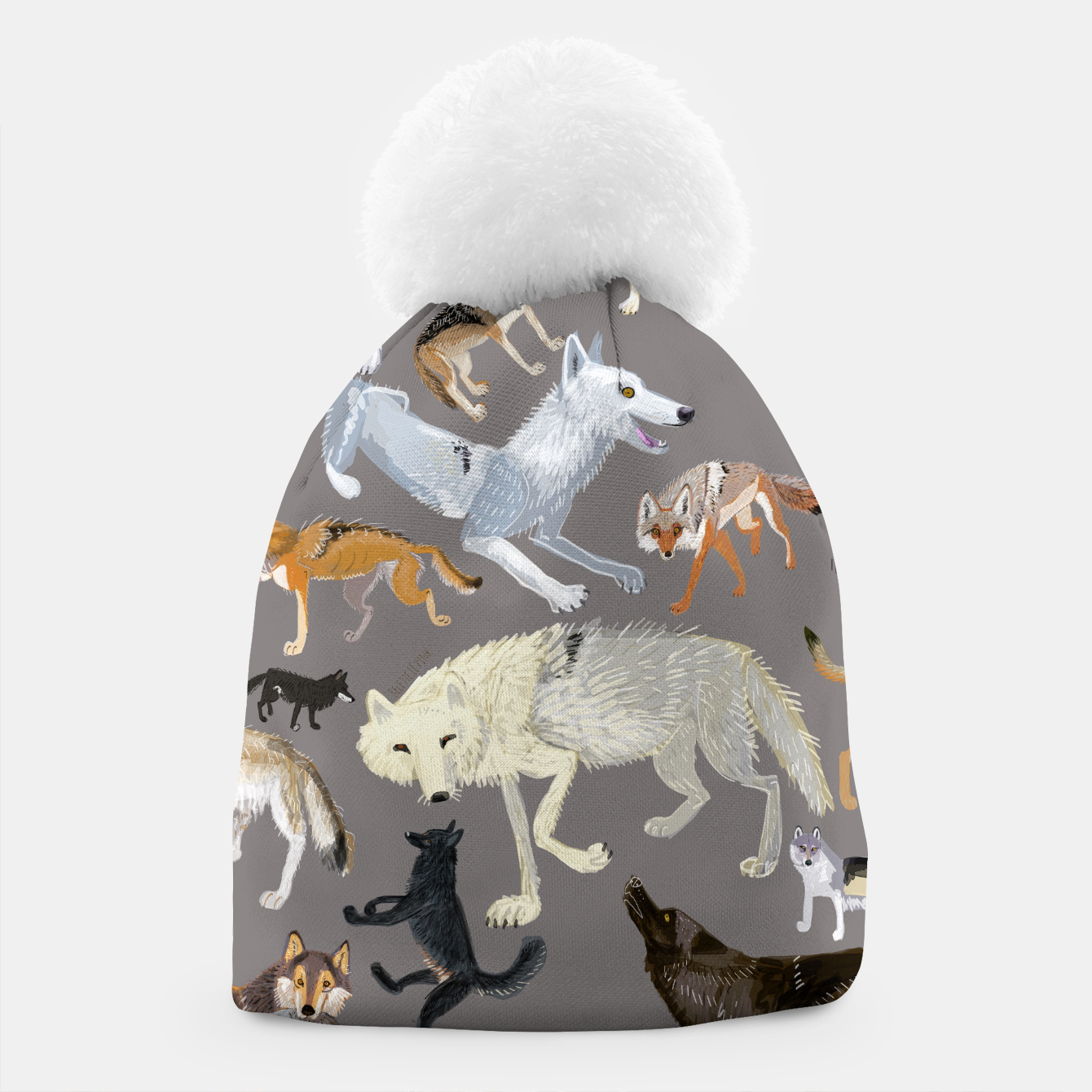 Imagen de Wolves of the world grey pattern Gorro - Live Heroes