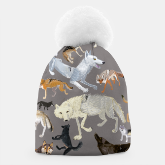 Imagen en miniatura de Wolves of the world grey pattern Gorro, Live Heroes