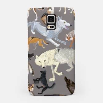 Imagen en miniatura de Wolves of the world grey pattern Carcasa por Samsung, Live Heroes