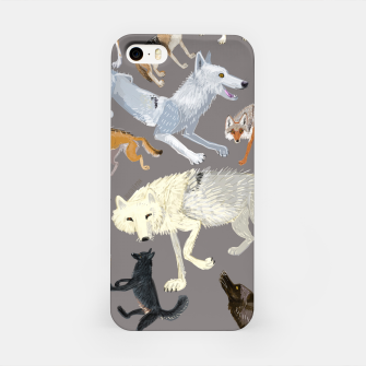 Imagen en miniatura de Wolves of the world grey pattern Carcasa por Iphone, Live Heroes