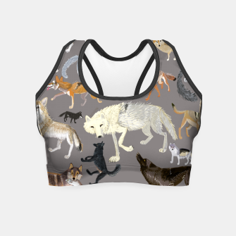 Imagen en miniatura de Wolves of the world grey pattern Crop Top, Live Heroes