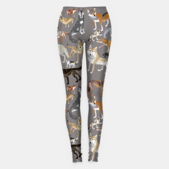 Imagen en miniatura de Wolves of the world grey Leggings, Live Heroes