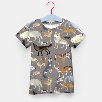 Imagen en miniatura de Wolves of the world grey Camiseta para niños, Live Heroes
