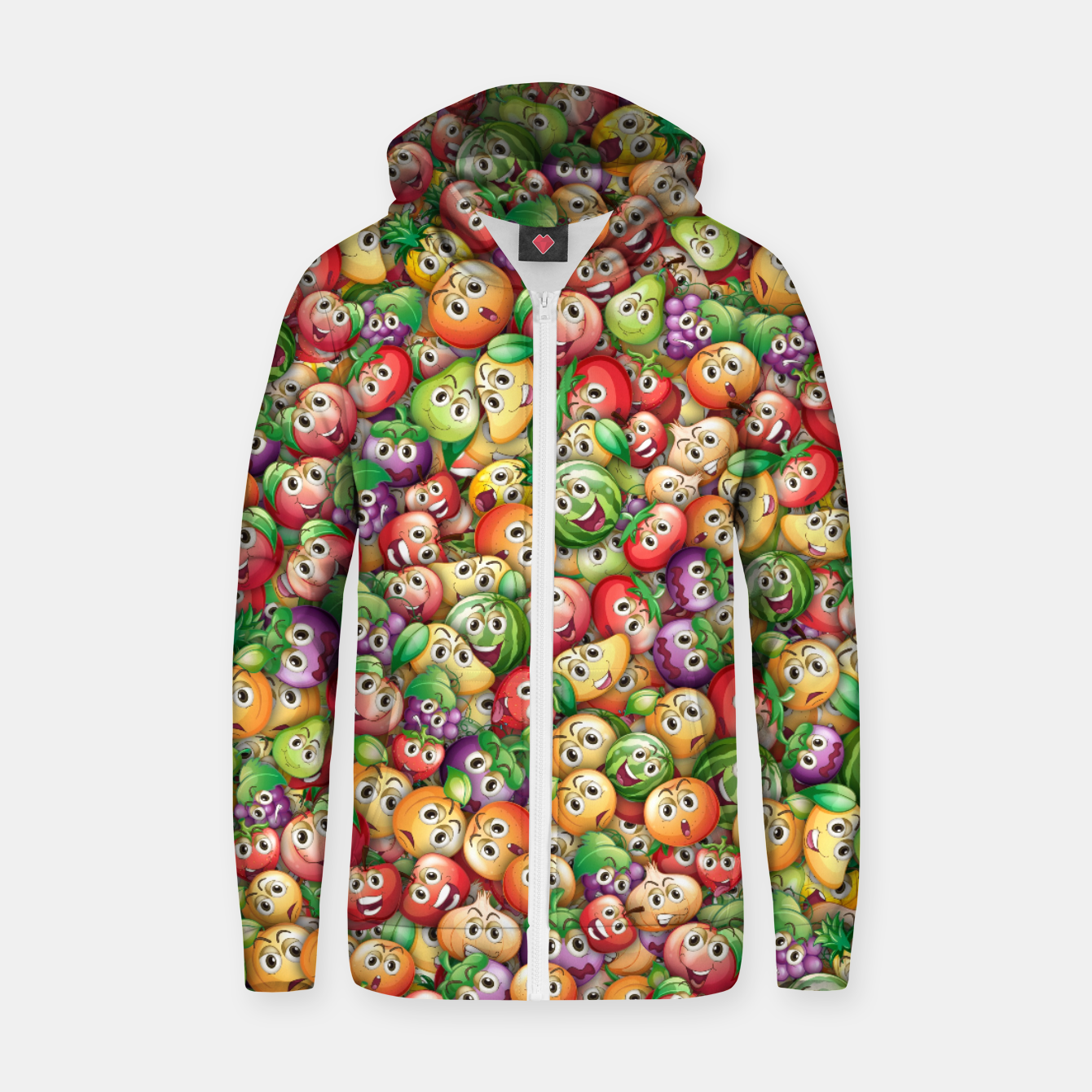 Image of Crazy fruits Zip up hoodie - Live Heroes