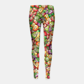 Crazy fruits Girl's leggings miniature